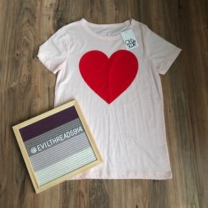 Chaser Heart Graphic T-shirt (M) NWT!